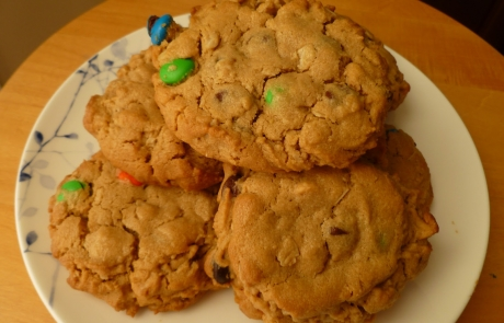 Dark Chocolate Chip Cookies with M&M's